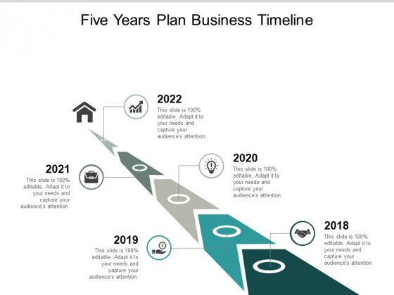 Five Years Plan Business Timeline Ppt PowerPoint Presentation File Topics
