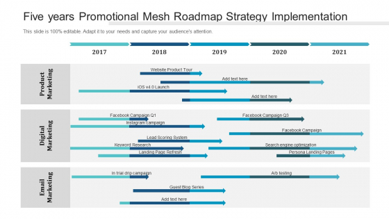 Five Years Promotional Mesh Roadmap Strategy Implementation Download