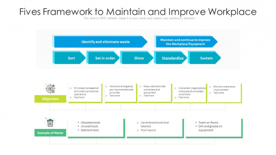 Fives Framework To Maintain And Improve Workplace Ppt Pictures Vector PDF