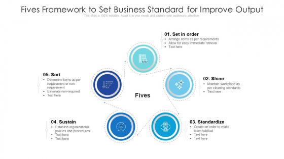 Fives Framework To Set Business Standard For Improve Output Ppt Gallery Graphics Tutorials PDF