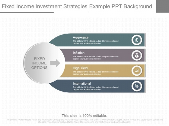 Fixed Income Investment Strategies Example Ppt Background