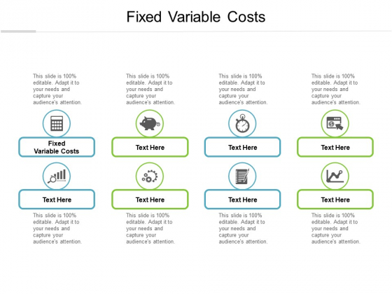 Fixed Variable Costs Ppt PowerPoint Presentation Summary Deck Cpb