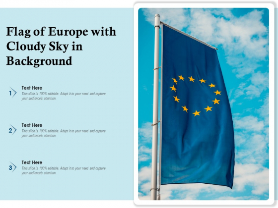 Flag_Of_Europe_With_Cloudy_Sky_In_Background_Ppt_PowerPoint_Presentation_Sample_PDF_Slide_1