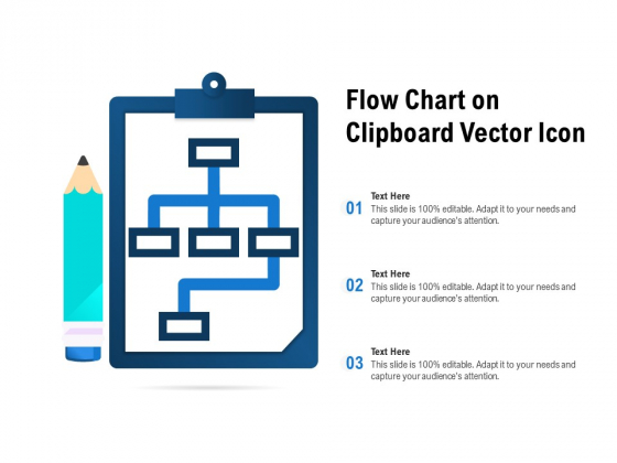 Flow Chart On Clipboard Vector Icon Ppt PowerPoint Presentation Gallery Smartart