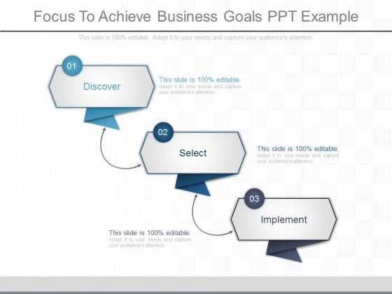 Focus To Achieve Business Goals Ppt Example