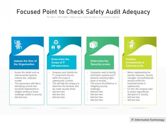 Focused Point To Check Safety Audit Adequacy Ppt PowerPoint Presentation Icon Files PDF