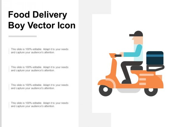 Food Delivery Boy Vector Icon Ppt PowerPoint Presentation Portfolio Images