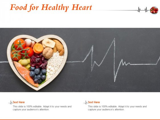 Food For Healthy Heart Ppt PowerPoint Presentation Portfolio Layouts