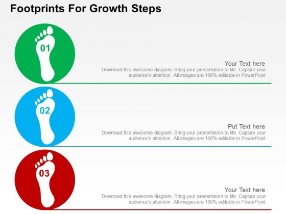 Footprints For Growth Steps Powerpoint Templates