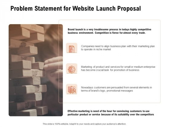 For Launching Company Site Problem Statement For Website Launch Proposal Information PDF