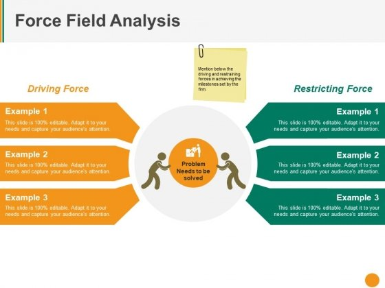 Force Field Analysis Ppt PowerPoint Presentation Gallery Objects