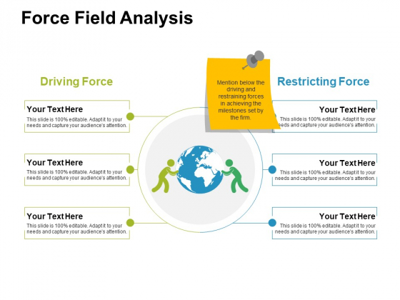 Force Field Analysis Ppt PowerPoint Presentation Icon Microsoft