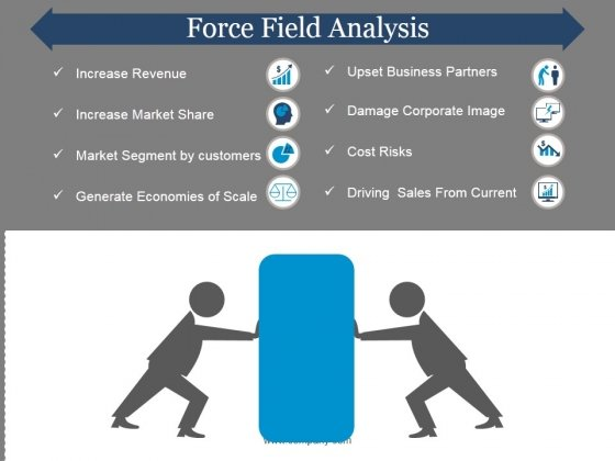 Force Field Analysis Template  Ppt Powerpoint Presentation Pictures