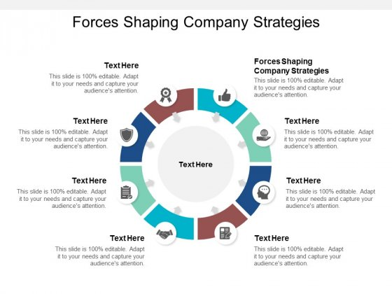 Forces Shaping Company Strategies Ppt PowerPoint Presentation Show Layout Ideas Cpb