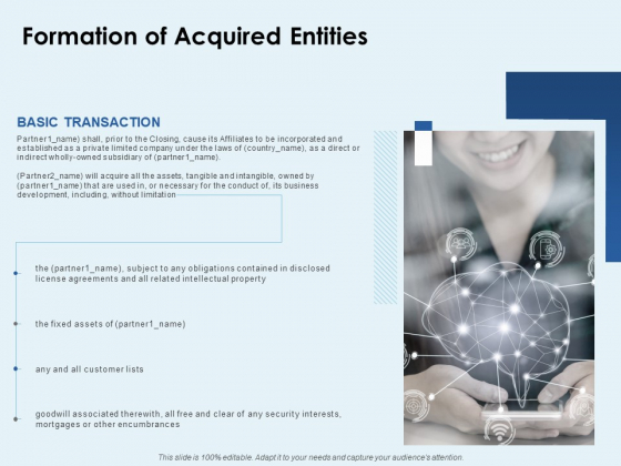 Formation Of Acquired Entities Ppt PowerPoint Presentation Gallery Infographic Template