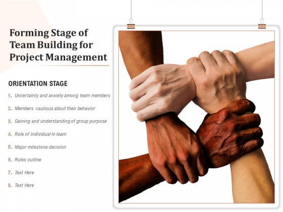 Forming Stage Of Team Building For Project Management Ppt PowerPoint Presentation Icon Show PDF
