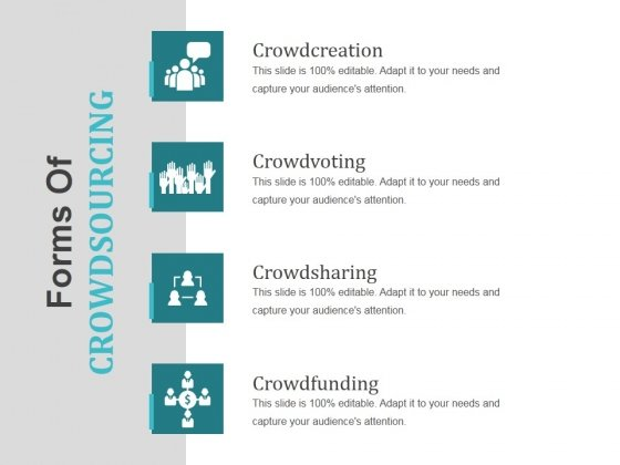 Forms Of Crowdsourcing Ppt PowerPoint Presentation Slides Format
