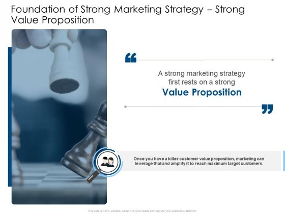 Foundation Of Strong Marketing Strategy Strong Value Proposition Background PDF