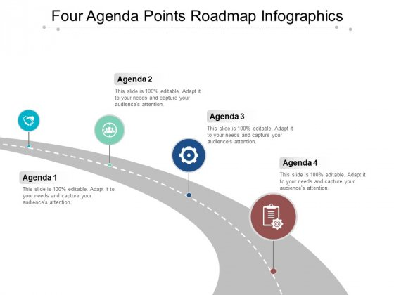 Four Agenda Points Roadmap Infographics Ppt PowerPoint Presentation Icon Summary