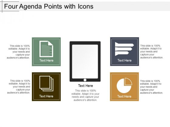 Four Agenda Points With Icons Ppt PowerPoint Presentation Outline Good