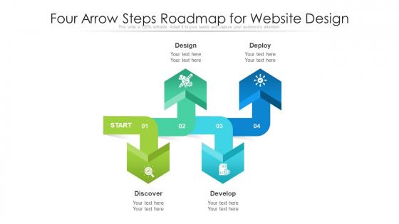 Four Arrow Steps Roadmap For Website Design Ppt PowerPoint Presentation Gallery Slide PDF