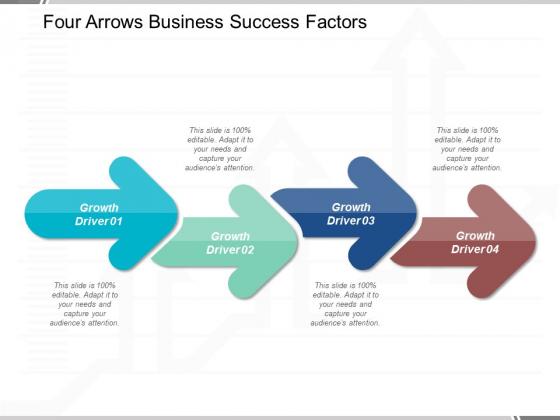 Four Arrows Business Success Factors Ppt Powerpoint Presentation Icon Guidelines