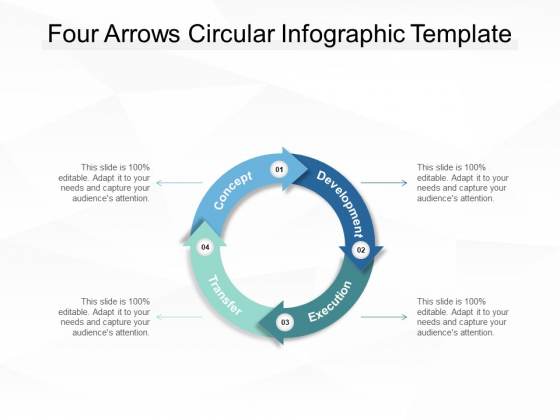 Four Arrows Circular Infographic Template Ppt PowerPoint Presentation Infographics Format Ideas PDF