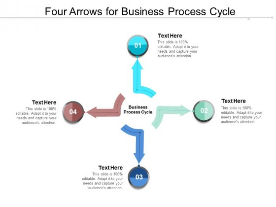 Four Arrows For Business Process Cycle Ppt Powerpoint Presentation Portfolio Images