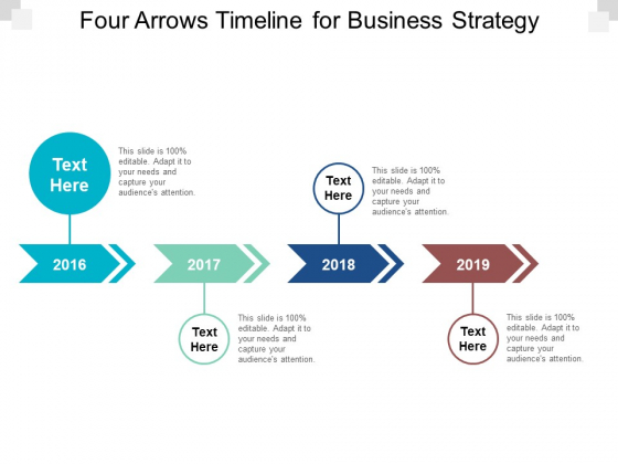 Four Arrows Timeline For Business Strategy Ppt PowerPoint Presentation Ideas Template