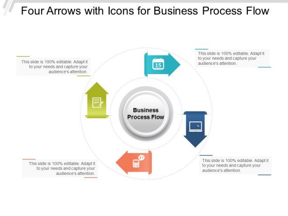 Four Arrows With Icons For Business Process Flow Ppt Powerpoint Presentation Infographics File Formats