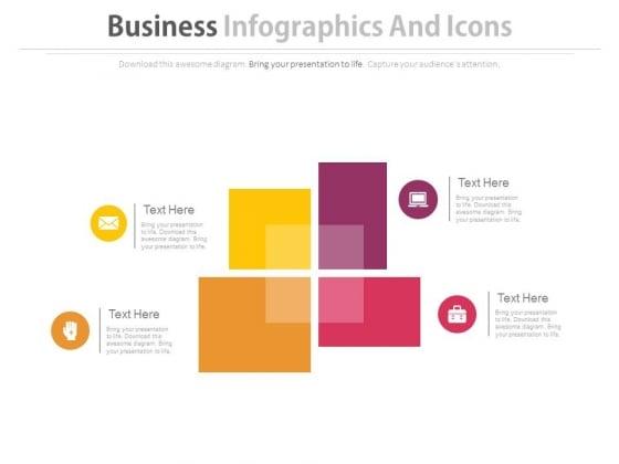 Four Blocks Infographics Design Powerpoint Template