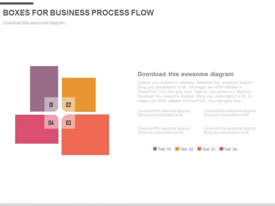 Four Boxes For Development Methodologies Powerpoint Template