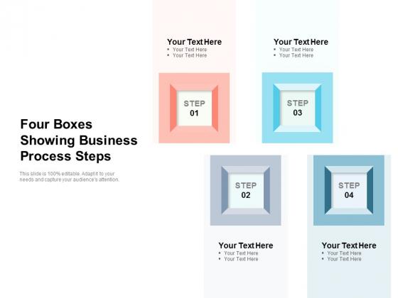 Four Boxes Showing Business Process Steps Ppt PowerPoint Presentation Slides Show