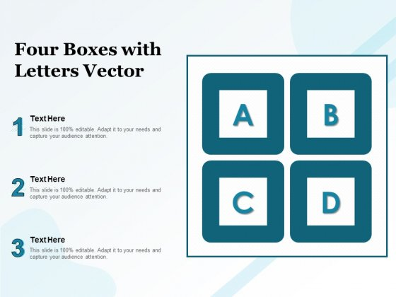 Four Boxes With Letters Vector Ppt PowerPoint Presentation Inspiration Graphics Pictures