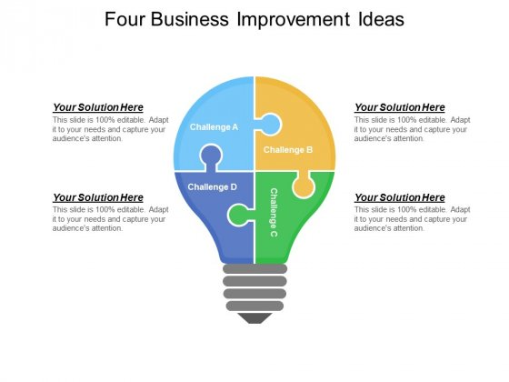 Four Business Improvement Ideas Ppt PowerPoint Presentation Icon Slide Portrait