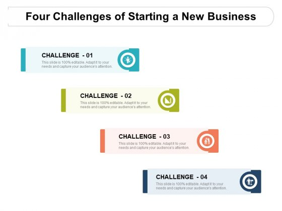 Four Challenges Of Starting A New Business Ppt PowerPoint Presentation Inspiration Example