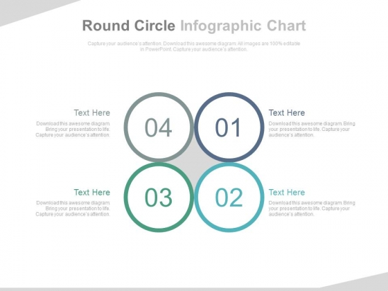 Four Circles For Supply Chain Management Powerpoint Template