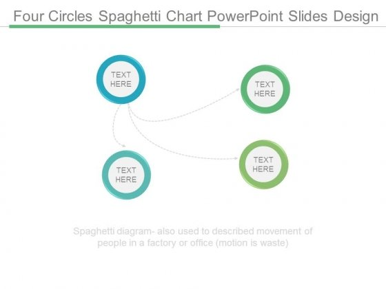 Four Circles Spaghetti Chart Powerpoint Slides Design