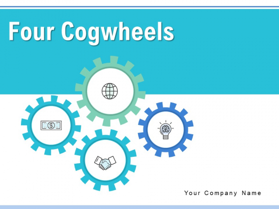 Four Cogwheels Gears Analysis Ppt PowerPoint Presentation Complete Deck
