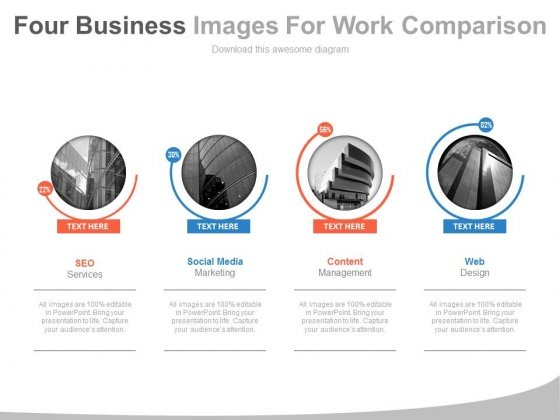 Four Companies With Web Services Powerpoint Slides