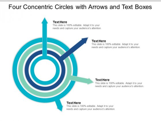 Four Concentric Circles With Arrows And Text Boxes Ppt Powerpoint Presentation Ideas Background Images