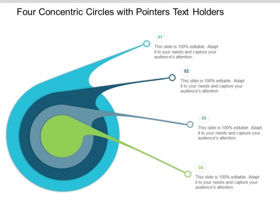 Four Concentric Circles With Pointers Text Holders Ppt Powerpoint Presentation Icon Slide Download