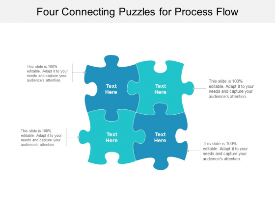 Four Connecting Puzzles For Process Flow Ppt PowerPoint Presentation File Inspiration