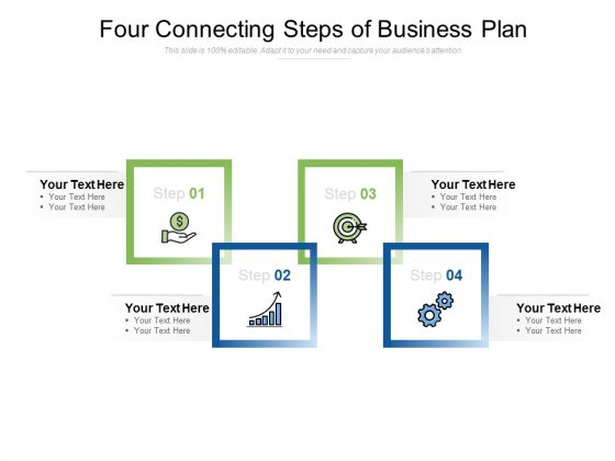 Four Connecting Steps Of Business Plan Ppt PowerPoint Presentation Inspiration Sample