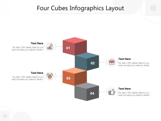 Four Cubes Infographics Layout Ppt PowerPoint Presentation Portfolio Graphic Images