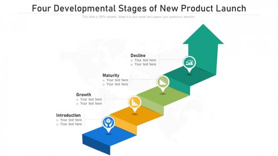 Four Developmental Stages Of New Product Launch Ppt PowerPoint Presentation File Example PDF
