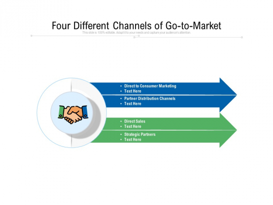 Four Different Channels Of Go To Market Ppt PowerPoint Presentation Gallery Templates PDF