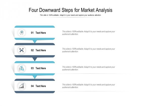 Four Downward Steps For Market Analysis Ppt PowerPoint Presentation Icon Portrait