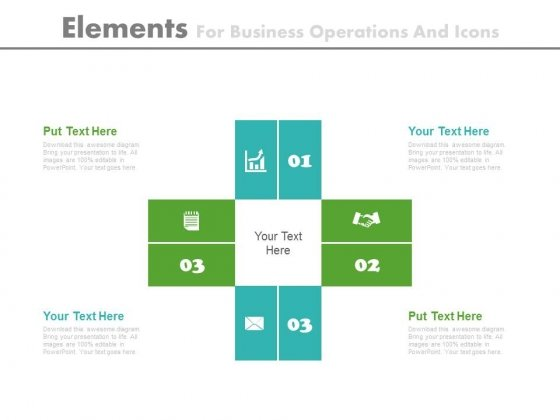 Four Elements For Strategic Marketing Plan Powerpoint Template