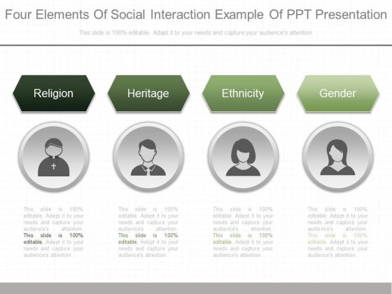 Four Elements Of Social Interaction Example Of Ppt Presentation